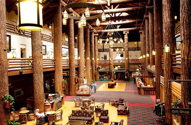 Lobby glacier park lodge