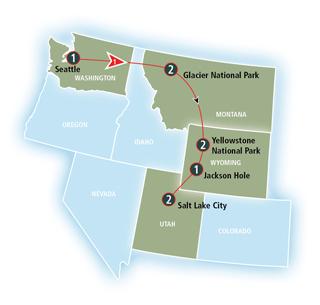 mappa itinerario treno glacier